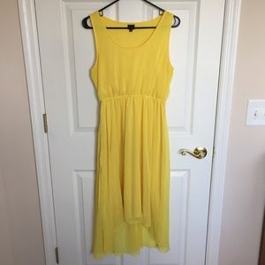 Yellow High-Low Dress
